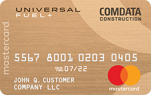 Comdata Construction Mastercard by FleetcardsUSA